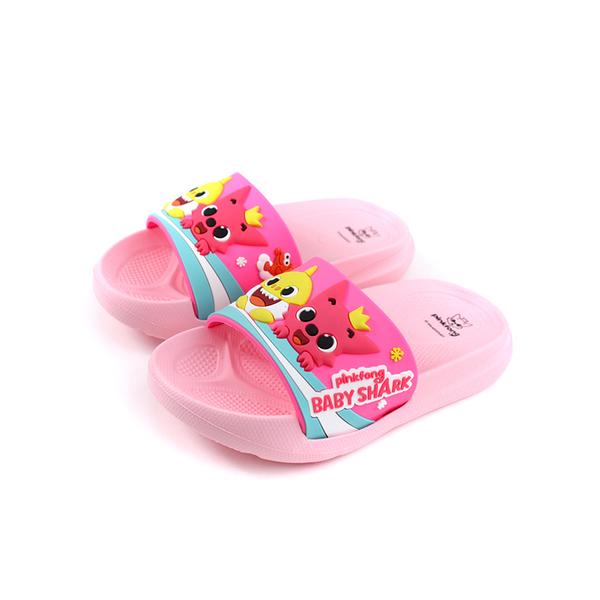 碰碰狐 鯊魚寶寶 BABY SHARK 拖鞋 戶外 粉紅色 中童 童鞋 PIKS96503 no689