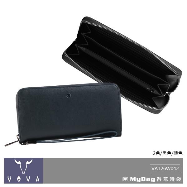 VOVA 沃汎 皮夾 高第-II系列 12卡 提把式拉鍊 長夾 VA126W042 得意時袋