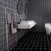 壁紙墻貼廁所北歐耐磨防滑衛生間浴室瓷磚貼紙【不二雜貨】
