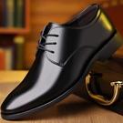 新款男士 現貨 商務正裝皮鞋 真皮透氣休閑 男鞋職業皮鞋