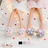 室內拖鞋 貓爪造型室內拖鞋-Ruby s 露比午茶