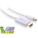 [美國直購 ] Cable Matters Mini DisplayPort (Thunderbolt™ 2 Port Compatible) to HDTV Cable in White 10 Feet White 10 ft