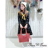 【Tiara Tiara】漢神秋冬 素色長袖針織罩衫(藍綠/灰/黃/紅)