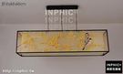 INPHIC-新中式吊燈客廳餐廳手繪燈現代中式仿古古典布藝長方形中國風燈具-150x40x40cm_S3081C