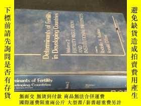 二手書博民逛書店Determinants罕見of Fertility in De