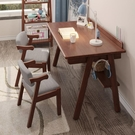電腦桌 日式實木書桌簡約臥室中學生帶抽屜寫字台式電腦桌北歐家用學習桌
