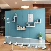 定制折疊屏風隔斷玄關客廳臥室3D時尚簡約背景墻CY『韓女王』