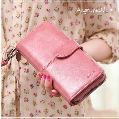 手拿包女長夾韓版簡約大容量手機包-附手腕帶(現貨) AngelNaNa SMA0142