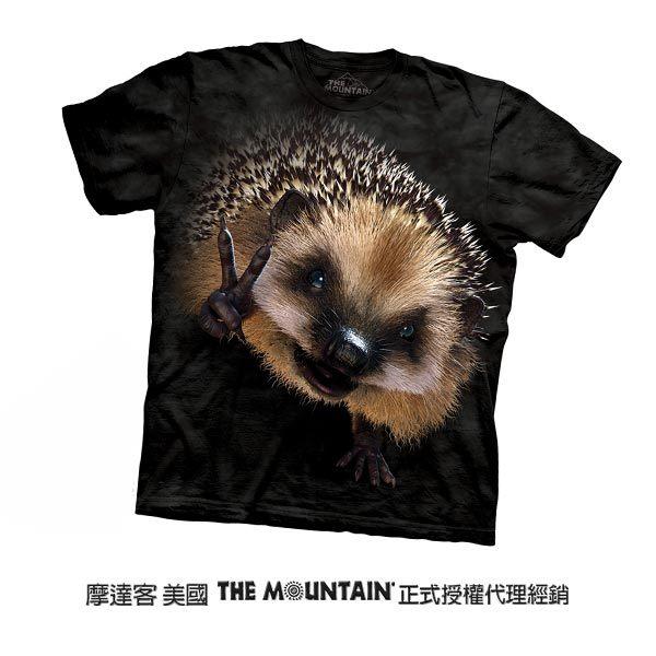【摩達客】(預購)美國進口The Mountain 和平刺猬 純棉環保短袖T恤(10415045071)