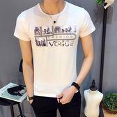 短袖T恤 夏裝修身3D印花男裝青少年休閒打底衫《印象精品》t32