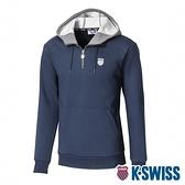 K-SWISS KS Color Hoodie刷毛連帽上衣-女-藍