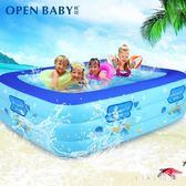 兒童游泳池充氣加厚成人寶寶泳池大人小孩戲水池家庭家用室內 qz9924【viki菈菈】