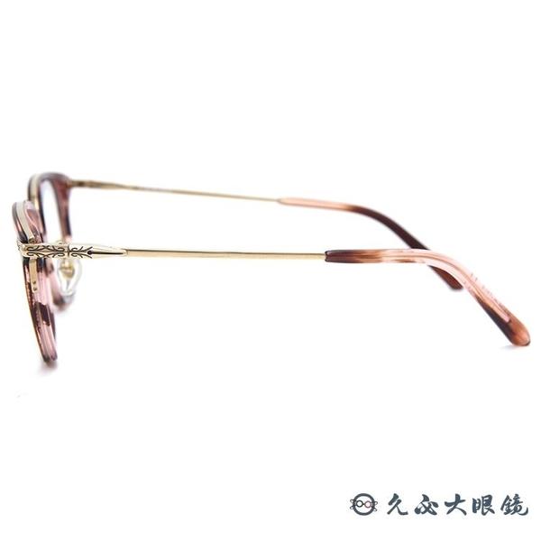RETROCRAFT 眼鏡 RC1042 RED (透紅-金) 義大利製 鈦 方框 近視眼鏡 久必大眼鏡