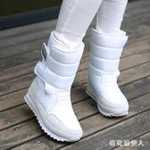 中筒靴 2018冬季新款女鞋防水防滑雪地靴女靴中筒短靴厚底加絨雪地鞋棉鞋 CP860【棉花糖伊人】