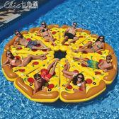 水上浮床浮圈成人兒童充氣床氣墊床坐騎充氣玩具浮排游泳圈「Chic七色堇」igo