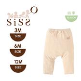 【SISSO有機棉】柔條嬰兒褲(咖條) 3M 6M 12M