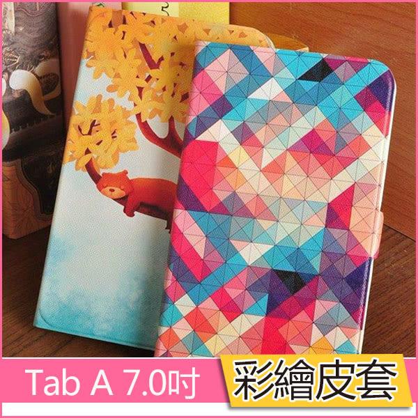 彩繪皮套 三星 Tab A 7.0 2016 保護套 T280N T285C 平板皮套 支架 卡通 t285 側翻 可愛 全包