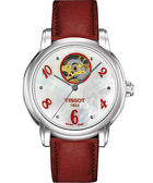 TISSOT 天梭 Lady Heart 心跳鏤空機械手錶-紅 T0502071611601