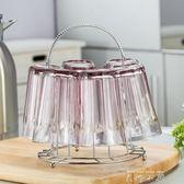 創意杯架水杯倒掛架 玻璃杯架晾放杯架客廳置物架茶杯架收納架【米娜小鋪】 igo