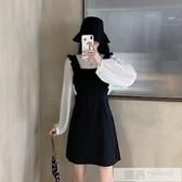 2020年初秋新款溫柔赫本輕熟風超仙女兩件套裝小個子背帶洋裝子 韓慕精品