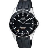 MIDO 美度 Ocean Star 200m潛水機械手錶-黑/41mm M0264301705100