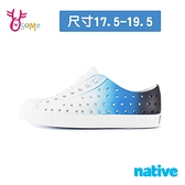 native水鞋 男童鞋 奶油頭 洞洞鞋 休閒鞋 懶人鞋 透氣防水 漸層 JEFFERSON OMBRE M9406#黑藍◆奧森
