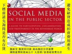 二手書博民逛書店Social罕見Media in the Public Sector: A Guide to Participat