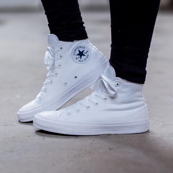 *Converse Chuck Taylo All Star II 基本款 高筒帆布 經典款 男女 白色 150148C