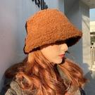 造型帽 冬季韓版潮漁夫帽女秋冬baby同款帽子羊羔毛燈心絨毛呢小香風盆帽【快速出貨八五折】