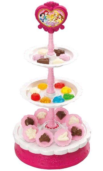 日本 Takara Tomy 迪士尼公主 英式下午茶三層架 附擬真點心 點心架 可真正使用【小福部屋】
