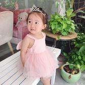 年終大促 女童連身裙夏裝2018新款公主裙洋氣裙女寶寶韓版紗蓬蓬裙
