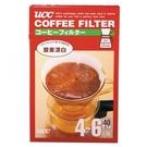 金時代書香咖啡 UCC CF-4 酸素漂白梯形濾紙 4~6人用 40枚入 CF-4-40W