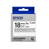 【高士資訊】EPSON 18mm LK-5WBVN 耐久型 白底黑字 原廠 盒裝 防水 標籤帶