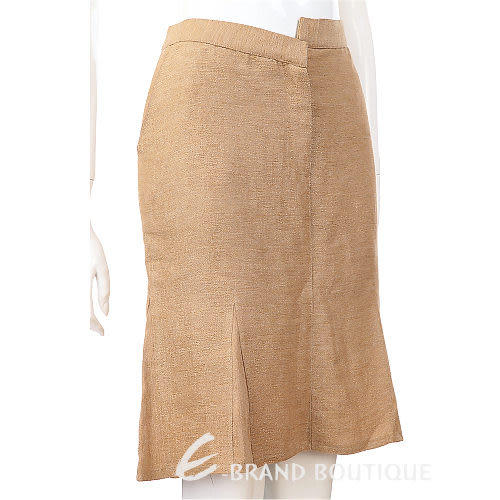 Lorella Braglia 金色不對稱設計及膝裙 0510663-24