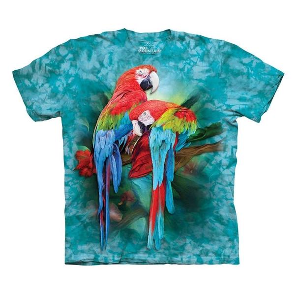 【摩達客】(預購)(大尺碼3XL) 美國進口The Mountain  雙金剛鸚鵡 純棉環保短袖T恤(10416045054a)