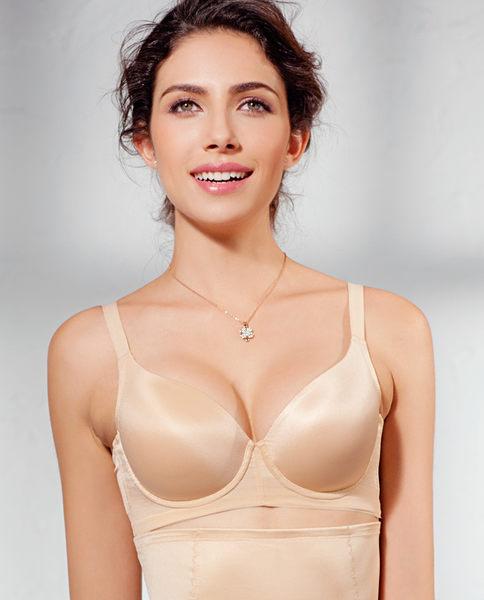 4/4薄模杯大罩杯珠光滑爽美背固定双肩带胸罩-ami0311242417