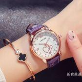 手錶 女錶可愛時尚夜光手錶皮帶錶防水女士手錶女高中學生【初秋新品八八折】
