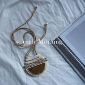 - 泰國 - early Morning - 石頭 幾何木頭 頸圈 伸縮項鏈 獨立品牌 設計款 大項鏈【TLL009】