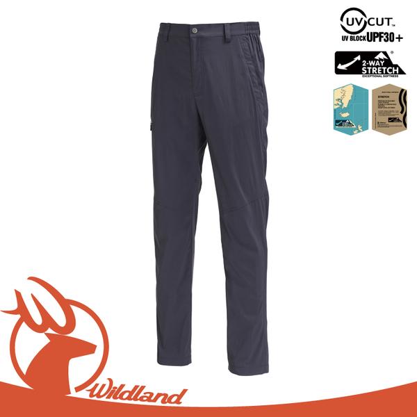 【Wildland 荒野 男 彈性輕薄抗UV長褲《深霧灰》】0A71352/吸濕排汗/休閒褲/抗紫外線/登山/旅遊