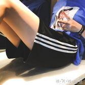 運動短褲ins運動短褲女寬鬆高腰休閒闊腿熱褲外穿夏季韓版學生跑步大碼潮 晴天時尚館