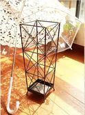 歐式鐵藝雨傘桶幾何雨傘架家用門廳雨傘桶收納架雨傘桶CY「Top3c」
