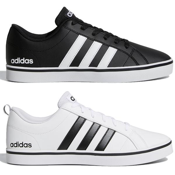 【現貨】Adidas VS PACE 男鞋 休閒 皮革 輕量 透氣 黑 / 白【運動世界】B74494 / AW4594
