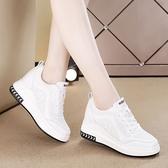 小白鞋女內增高韓版鞋子夏季透氣網面休閒鞋