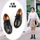 軟妹小皮鞋女日系學生夏風可愛洛麗塔綁帶尖頭jk制服鞋小清新