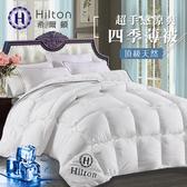【Hilton 希爾頓】超手感感涼爽四季羽絲絨薄被1.8KG/二色任選時尚白
