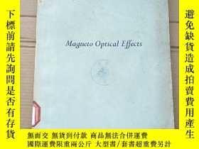 二手書博民逛書店magneto罕見optical effects(P2066)Y173412