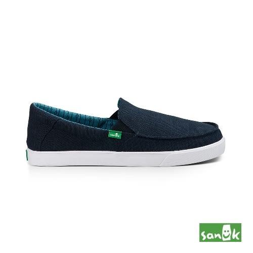 SANUK  亞麻素面帆布休閒鞋-男款SMF11191 NLN(深藍色)