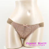 Chasney Beauty-Petel網紗S-L蕾絲丁褲(紫芋)