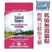 ◆MIX米克斯◆美國NB.Natural Balance.低敏無穀鷹嘴豆鮭魚全貓配方【5磅(2.72KG)】L.I.D.系列