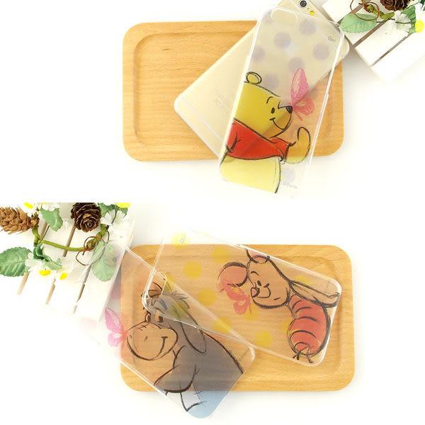【Disney 】iPhone 6/6s 彩繪手繪風透明保護硬殼-點點系列